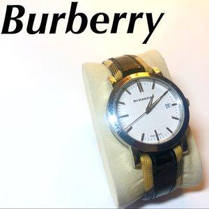 Burberry Watch Nova Check Print Black Women's